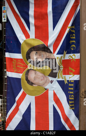 A souvenir Shop selling Memorabilia of Prince William and Kate Middleton's Wedding on the 29th April 2011 The Royal - Stock Photo
