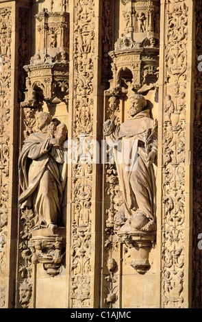 Spain, Castile-Leon, Salamanca, San Esteban convent in the old town, listed as World Heritage by UNESCO - Stock Photo