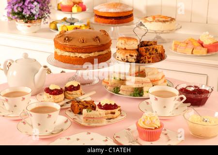BRITISH AFTERNOON TEA - Stock Photo