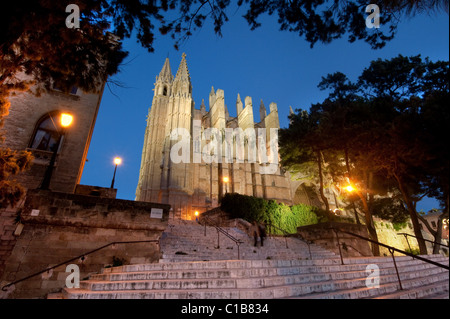 ES - MALLORCA: La Seu Cathedral at Palma de Mallorca, Spain - Stock Photo