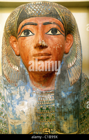 Egypt, Alexandria, the Greek Roman museum, sarcophagus - Stock Photo