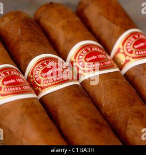 Cuban Romeo & Julieta No 3 cigars - Stock Photo