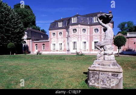France, Somme, Abbeville,Bagatelle castle - Stock Photo