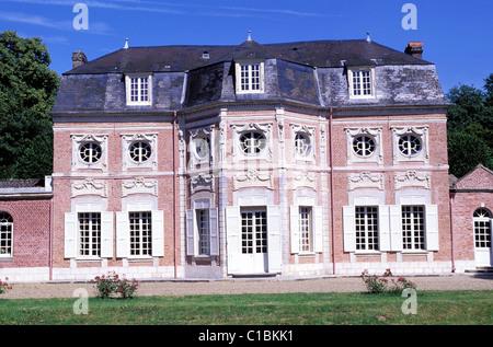 France, Somme, Abbeville Bagatelle castle - Stock Photo
