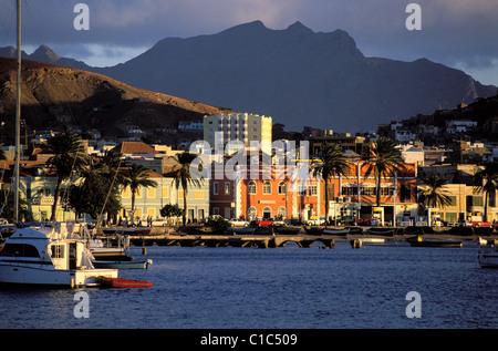 Cape Verde Islands, Sao Vicente Island, Mindelo bay - Stock Photo