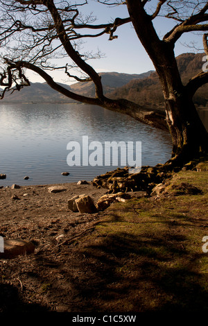 A view of Ullswater taken from the west shore - Stock Photo