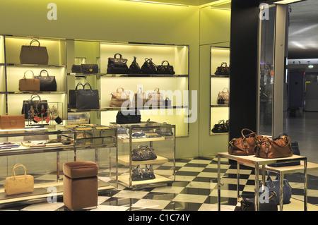 luxury store Prada terminal 2 Roissy airport France - Stock Photo