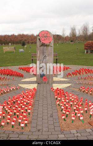 The Royal British Legion 'My Remembrance Day' Memorial at the National Memorial Arboretum Alrewas UK - Stock Photo