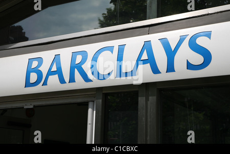 General view gv of the logo for a Barclays Bank in London, England. - Stock Photo