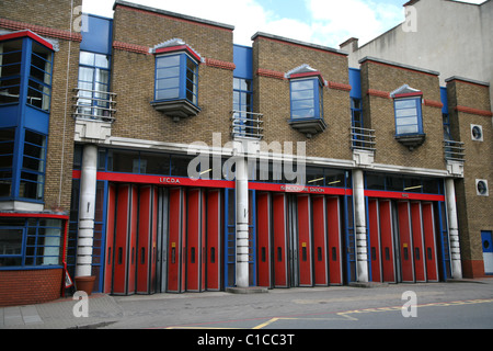 General View gv of Islington Fire Station on Upper street, Islington, London, England. - Stock Photo