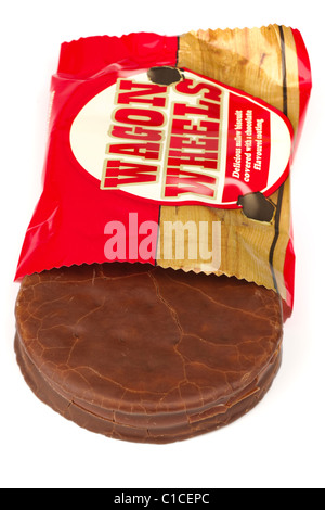 Wagon Wheel marsh mallow centered chocolate biscuit - Stock Photo
