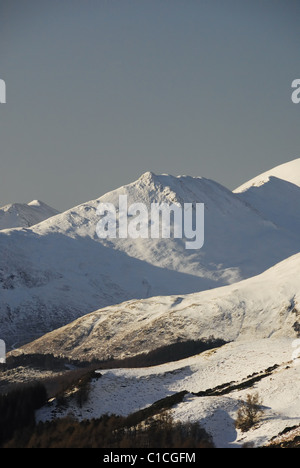 Snow covered Causey Pike in winter in the English Lake District - Stock Photo