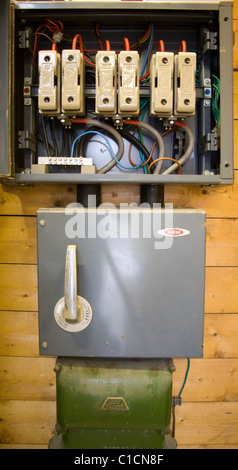 Main incoming electrical distribution board - Stock Photo