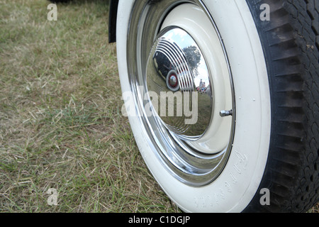 the white wall tires of a chevrolet impala sitting on a street in coronado ca white wall tyre stock photo