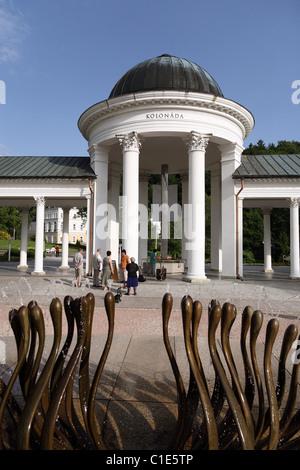 Caroline's Spring Colonnade, Marianske Lazne, Czech Republic - Stock Photo