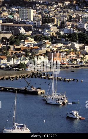 Cape Verde Islands, Sao Vicente bay of Mindelo - Stock Photo