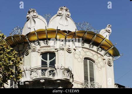 Italy, Turin, the villa Fenoglio (1910), also called the house Giorgio Lafleur, of style Art Nouveau - Stock Photo