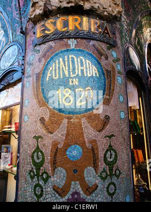 Antiga Casa Figueras Detail Las Ramblas, Barcelona, Spain - Stock Photo