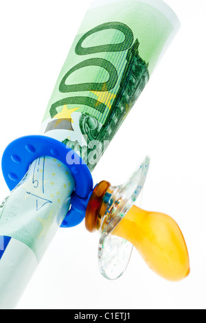 Symbol for child benefit. Expenditure on children education. - Stock Photo