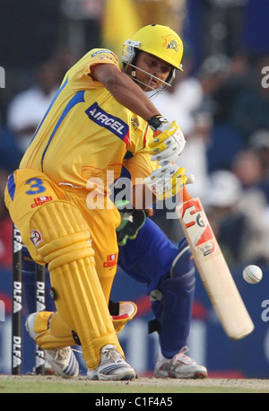 Chennai Super Kings Suresh Raina, Muttiah Muralitharan and ...