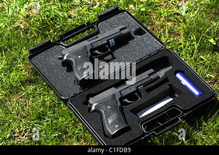 The P226 was designed for entry into the XM9 Service Pistol Trials, which were held by the US Army in 1984 on behalf - Stock Photo