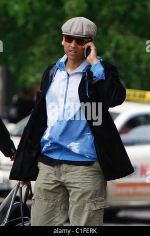 German singer Xavier Naidoo outside Ritz-Carlton Hotel ...