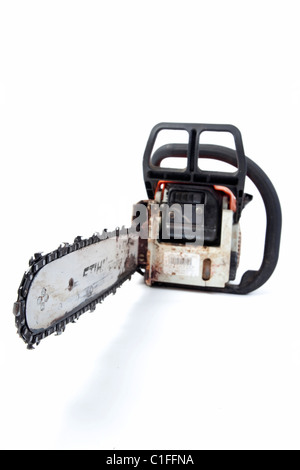 chainsaw on isolated background - Stock Photo