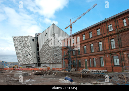 Titanic Signature Building under construction - Stock Photo