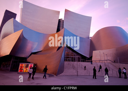 Architect Frank Gehry's Disney Concert Hall in downtown Los Angeles Southern California USA - Stock Photo