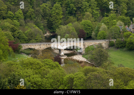 Mercury Bridge, and River Swale, Richmond, North Yorkshire, England, United Kingdom - Stock Photo