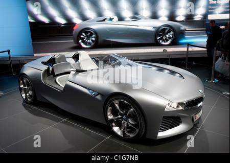 Concept Car Interior Bmw Vision Connecteddrive Stock Photo 43536810
