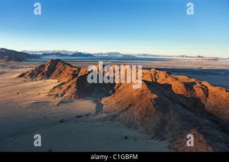 Mountain range. Namib desert, Naukluft National Park, Namibia. - Stock Photo