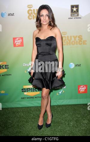 Mila Kunis Spike TV's Guys Choice Awards held at Sony Studios Los Angeles, California - 30.05.09 - Stock Photo