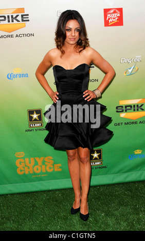 Mila Kunis Spike TV's Guys Choice Awards held at Sony Studios Los Angeles, California - 30.05.09 : - Stock Photo