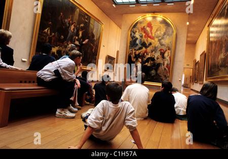 France, Rhone, Lyon museum of fine art, room of Rubens - Stock Photo