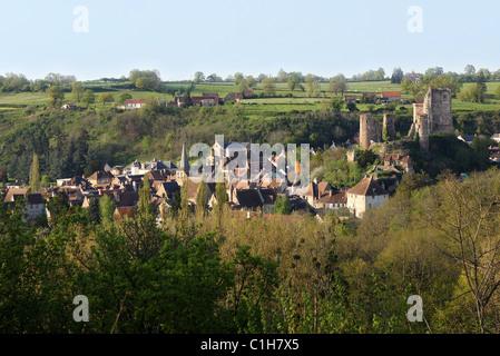 France, Allier, village of Herisson, Bourbonnais - Stock Photo