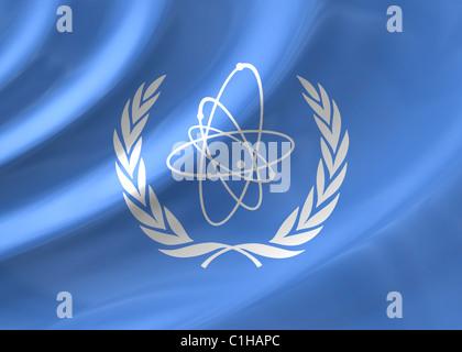 IAEA flag - Stock Photo