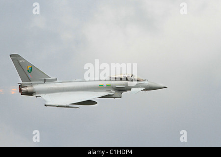 Side on view of a RAF Eurofighter Typhoon - Stock Photo