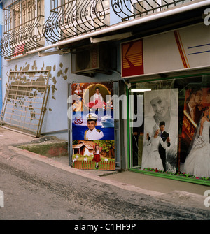 Documentary Photography - Photography studio in a street scene in Fener & Balat in Istanbul in Turkey in Middle - Stock Photo