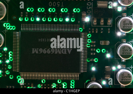 Electronic Circuit Board - Computer Chip - Stock Photo