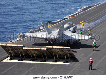 2011 March - US NAVY - Thunderbolts of Marine Fighter Attack Squadron (VMFA) - Stock Photo