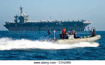 2011 March - US NAVY  - Nimitz-class aircraft carrier USS Carl Vinson (CVN 70) - Stock Photo