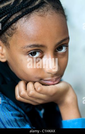 African Young Girl On A Street Of Zanzibar Island