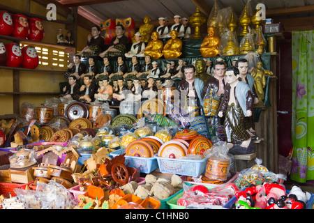 souvenir shop at Taung Kalat , Mount Popa, Myanmar - Stock Photo