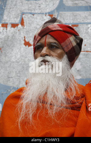 IND, India,20110310, man to the pilgrims path - Stock Photo