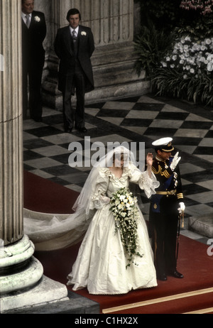 Royal Wedding of Prince Charles and Lady Diana Spencer - Stock Photo