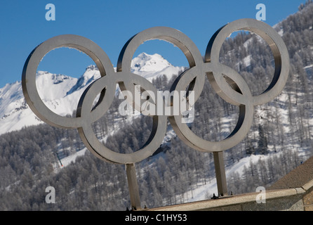sestriere, italy - Stock Photo