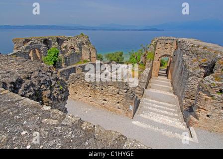 Grotte di Catullo, Roman villa ruin, Sirmione, Lake Garda, Italy