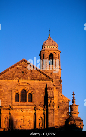 Spain, Andalusia, Ubeda, the church of San El Salvador - Stock Photo