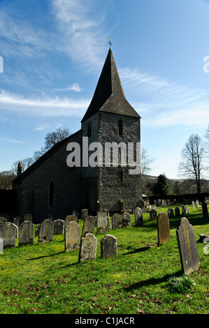Findon Parish 13th Century Norman Church. A grade 1 listed building which nestles in the south downs just north - Stock Photo